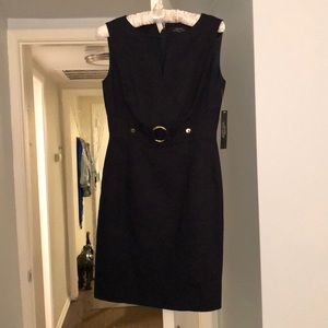 Navy dress Tahari. Brand new